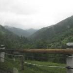Один із краєвидів перевалу (шкода, що погода була дощова і похмура)
