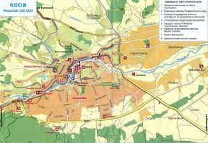 Карта музеїв міста Косів