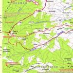 Туристичний маршрут з села Шепіт на гору Ґрегіт (карта)
