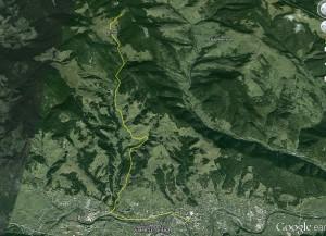 Піший похід на Білу Кобилу — карта