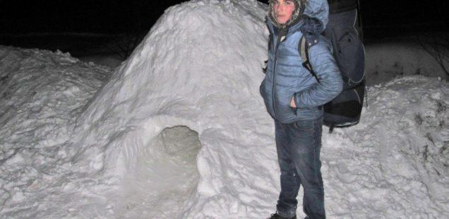 Дев'ятикласник ночував у снігу